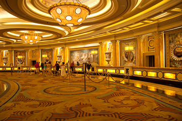 Registration lobby at Caesar's Palace Las Vegas