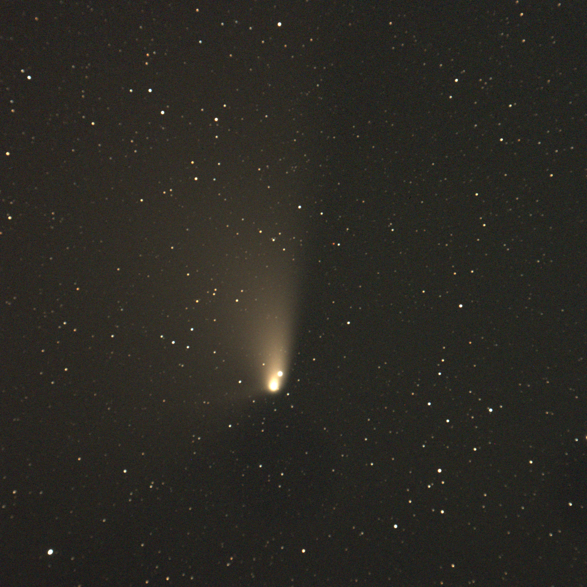Comet C/2011 L4 (PANSTARRS) shot before dawn on 4/7/13, five-minute exposure
